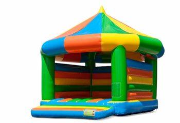 Groot carrousel springkussen overdekt kopen in standaard thema voor kinderen. Bestel springkussens online bij JB Inflatables Nederland
