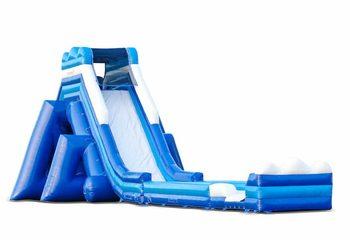 Opblaasbare mega waterglijbaan in kleur blauw kopen voor kinderen