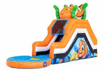 Waterglijbaan springkussen in thema van seaworld bestellen bij JB Inflatables Nederland. Koop springkussen online bij JB Inflatables Nederland