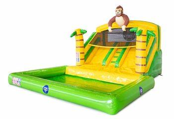 Splashy slide jungle springkussen voor kids bestellen bij JB Inflatables Nederland. Koop springkussens online bij JB Inflatables Nederland