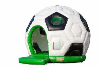 Groot overdekt rond springkussen kopen in thema voetbal voor kinderen. Koop springkussen online bij JB Inflatables Nederland