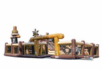 Opblaasbaar mega springkussen in piraat thema kopen voor kinderen. Bestel springkussens online bij JB Inflatables Nederland