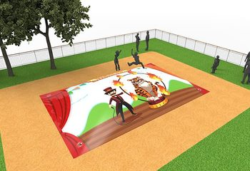 Inflatable springberg kopen in circus thema voor kinderen
