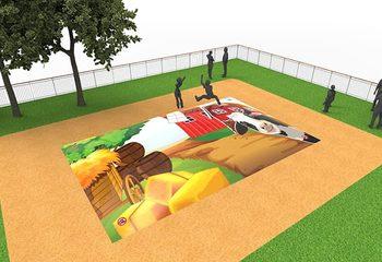 Inflatable springberg kopen in boerderij thema voor kinderen