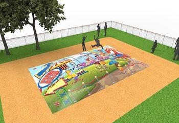 Inflatable springberg kopen in rollercoaster thema voor kinderen