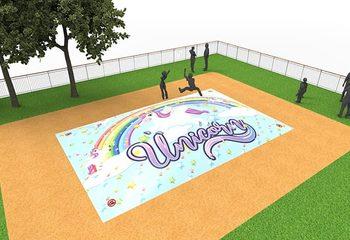 Inflatable springberg in unicorn thema kopen voor kinderen
