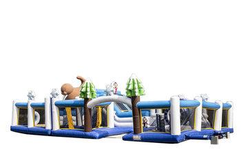 Groot opblaasbaar springkussen in Frozen thema kopen voor kinderen. Bestel springkussens online bij JB Inflatables Nederland