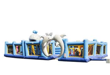 Groot opblaasbaar springkussen in seaworld thema kopen voor kinderen. Bestel springkussens online bij JB Inflatables Nederland