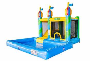 Opblaasbaar Multi Splash Bounce springkussen met waterbadje kopen in thema feest party voor kinderen bij JB Inflatables
