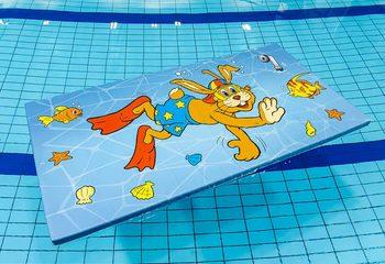 Op maat gemaakt speelvlot voor in het zwembad kopen voor kinderen