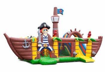 Groot opblaasbaar springkussen kopen in thema piraat piratenboot voor kids bij JB Inflatables