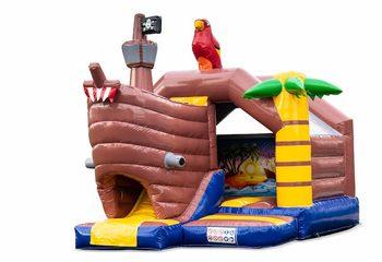 Opblaasbare slide combo springkussen in piraat thema te koop voor kinderen. Bestel nu opblaasbare springkussens bij JB Inflatables Nederland