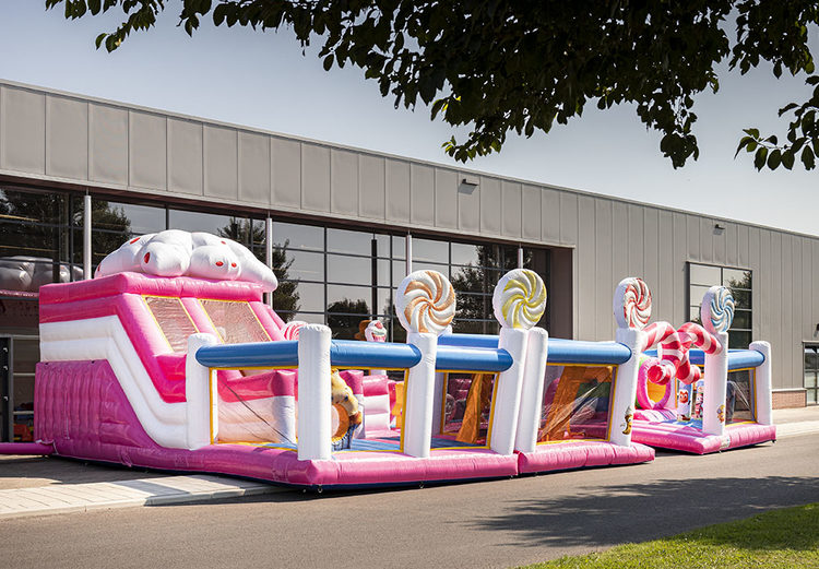 Bounce World Candyland vooraanzicht links
