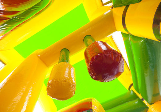 Koop middelmatig opblaasbare multiplay springkussen in krokodil thema met glijbaan voor kinderen. Bestel opblaasbare springkussens online bij JB Inflatables Nederland