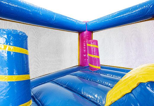 Koop mini opblaasbare unicorn springkussen met glijbaan voor kinderen bij JB Inflatables. Bestel opblaasbare springkussens met glijbaan online bij JB Inflatables Nederland