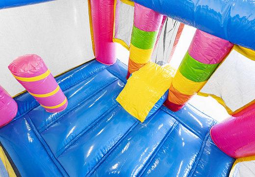 Mini opblaasbare luchtkussen met glijbaan te koop in unicornthema voor kinderen. Koop opblaasbare luchtkussens online bij JB Inflatables Nederland
