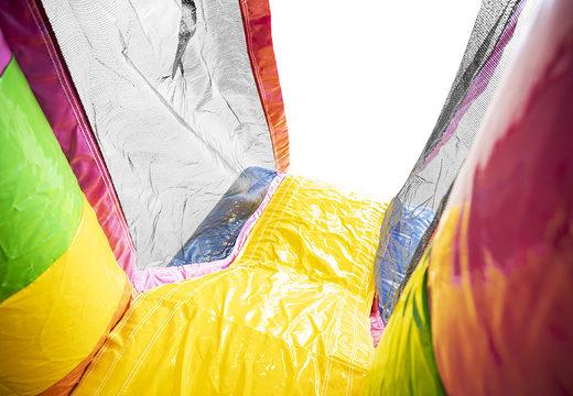 Mini opblaasbare springkasteel met glijbaan te koop in unicornthema voor kinderen. Koop opblaasbare springkastelen online bij JB Inflatables Nederland
