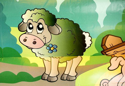 Midi overdekt multifun springkasteel met glijbaan bestellen in thema boerderij voor kinderen. Koop springkastelen online bij JB Inflatables Nederland