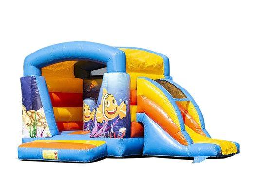 Klein multifun springkussen overdekt kopen in thema seaworld voor kinderen. Bestel springkussens online bij JB Inflatables Nederland