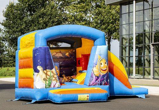 Klein multifun springkasteel overdekt kopen in thema seaworld voor kinderen. Bestel springkastelen online bij JB Inflatables Nederland