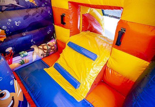 Klein multifun luchtkussen overdekt te koop in thema seaworld voor kinderen. Koop luchtkussens online bij JB Inflatables Nederland