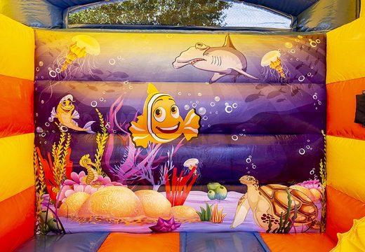 Klein multifun springkasteel overdekt kopen in thema seaworld voor kinderen. Koop springkastelen online bij JB Inflatables Nederland
