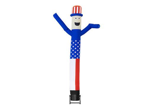 Maatwerk Skydancer Amerika zijn perfect voor verschillende evenementen. Bestel op maat gemaakte airdancers bij JB Promotions Nederland