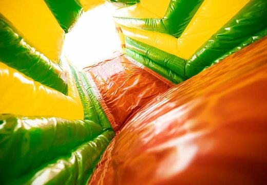 Crocodile-themed indoor inflatable crawl tunnel for kids. Order bouncers online now at JB Inflatables America