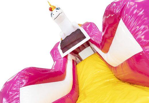 Acquistare un gioco gonfiabile con scivolo con vasca con il tema unicorno