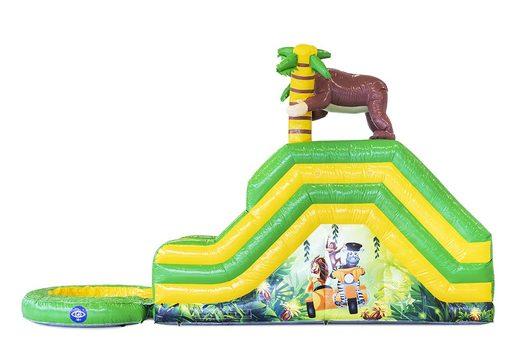 Acquistare un gioco gonfiabile con scivolo con vasca con il tema giungla