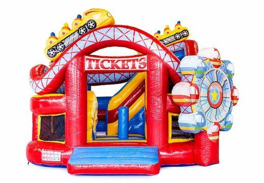 Multifunctioneel Funcity Rollercoaster springkussen bestellen voor kinderen. Koop springkussens online bij JB Inflatables Nederland