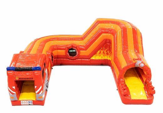 Play and fun brandweer kruiptunnel springkussen kopen voor kinderen. Bestel springkussens online bij JB Inflatables Nederland