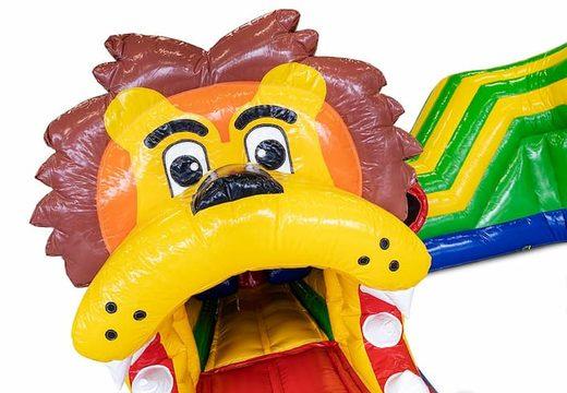 Bestel een kruiptunnel springkasteel in thema leeuw voor kinderen. Koop springkastelen online bij JB Inflatables Nederland