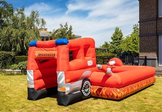 Inflatable open bubble boarding park springkussen met schuim te koop in thema brandweer voor kinderen