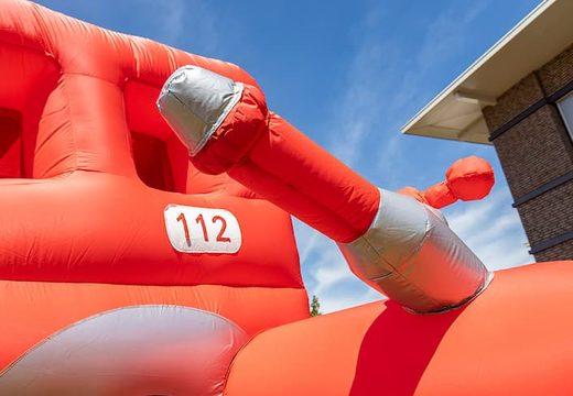 Opblaasbaar open bubble boarding park springkussen met schuim bestellen in thema brandweer voor kids