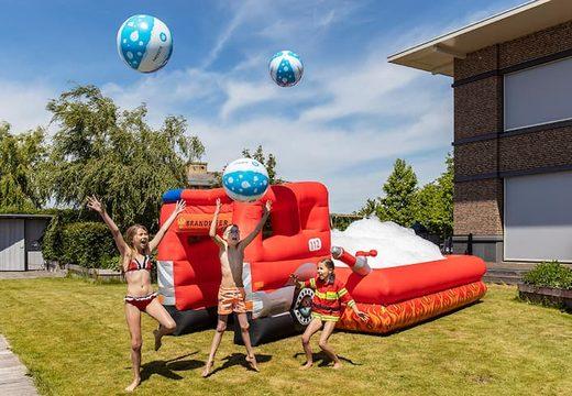 Opblaasbaar open bubble boarding park springkussen met schuim te koop in thema brandweer voor kinderen