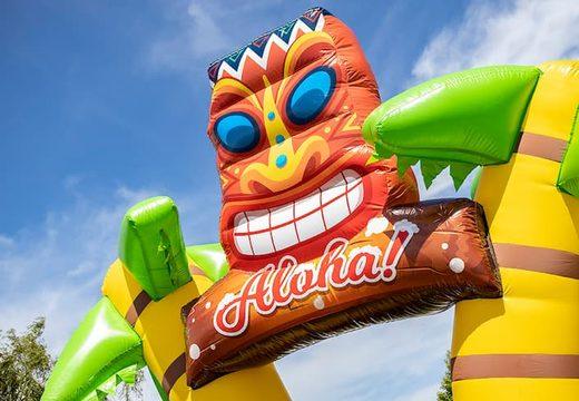 Koop een groot opblaasbaar open bubble park in Hawaii thema voor kids. Bestel opblaasbare springkastelen bij JB Inflatables Nederland