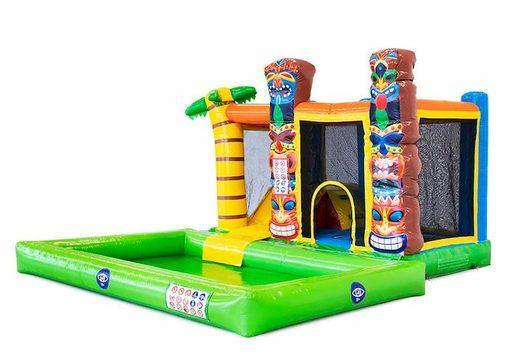 Multifunctioneel splash Hawaï springkasteel bestellen bij JB Inflatables Nederland. Koop springkastelen online bij JB Inflatables Nederland