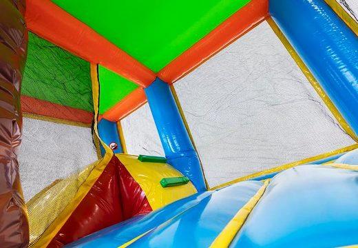 Overdekt opblaasbaar multiplay springkussen bestellen in thema Hawaï voor kids bij JB Inflatables Nederland. Koop springkussens online bij JB Inflatables Nederland