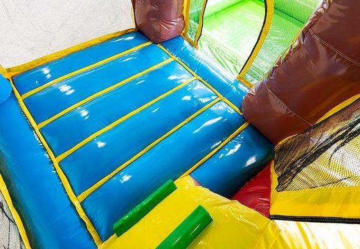 Multi splash bounce Hawaï springkasteel met of zonder bad kopen voor kinderen. Bestel springkastelen onlin bij JB Inflatables Nederland