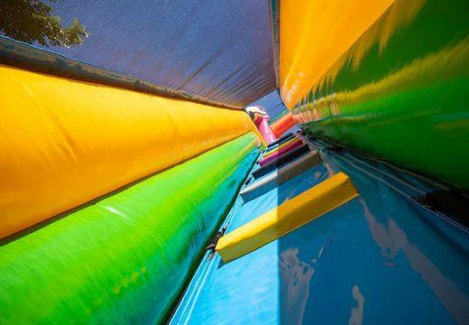 Bestel Drop & Slide Jungle springkasteel met dubbele glijbaan voor kinderen. Koop opblaasbare springkastelenonline bij JB Inflatables Nederland