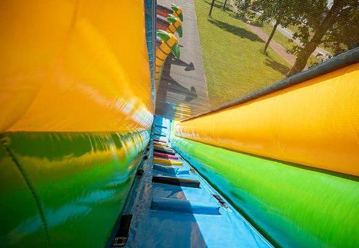 Koop Drop & Slide Jungle Springkussen met twee glijbanen voor kinderen. Bestel opblaasbare springkussens online bij JB Inflatables Nederland