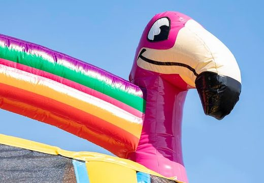 Bestel Drop & Slide Jungle Springkussen met twee glijbanen voor kinderen. Koop opblaasbare springkussens online bij JB Inflatables Nederland