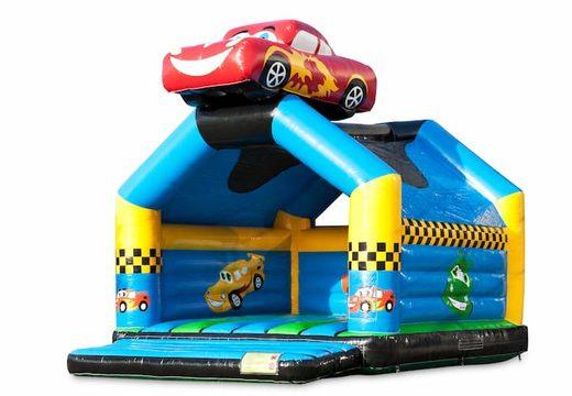 Groot springkussen overdekt kopen in auto thema voor kinderen. Bestel springkussens online bij JB Inflatables Nederland