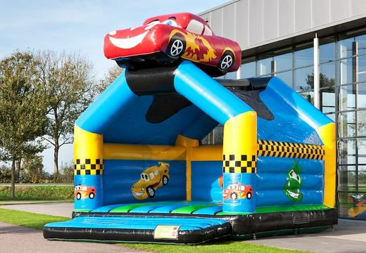Super springkussen overdekt kopen in auto thema voor kinderen. Koop springkussen online bij JB Inflatables Nederland
