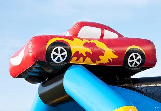 Groot luchtkussen overdekt kopen in auto thema voor kinderen. Koop luchtkussens online bij JB Inflatables Nederland