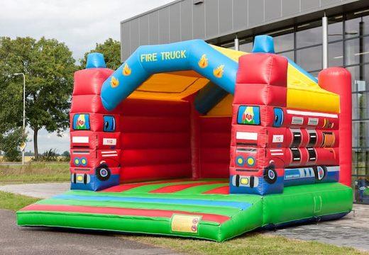Super springkussen overdekt kopen in brandweer thema voor kinderen. Koop springkussen online bij JB Inflatables Nederland