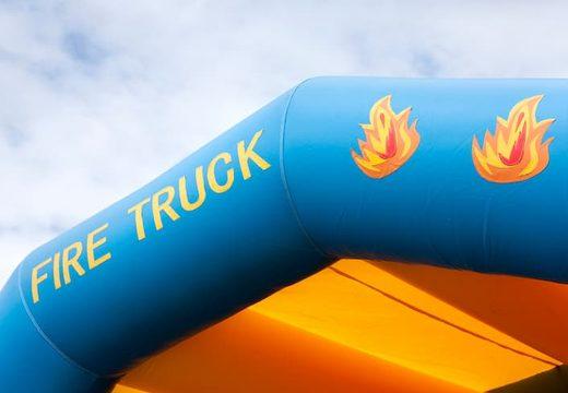 Brandweer super springkussen overdekt kopen met vrolijke animaties voor kinderen. Koop springkussens online bij JB Inflatables Nederland