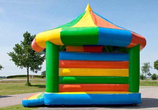Groot carrousel luchtkussen overdekt kopen in standaard thema voor kinderen. Bestel luchtkussens online bij JB Inflatables Nederland