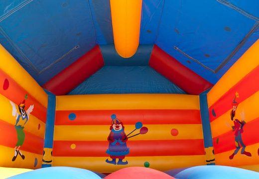 Groot luchtkussen overdekt kopen in clown thema voor kinderen. Koop luchtkussens online bij JB Inflatables Nederland